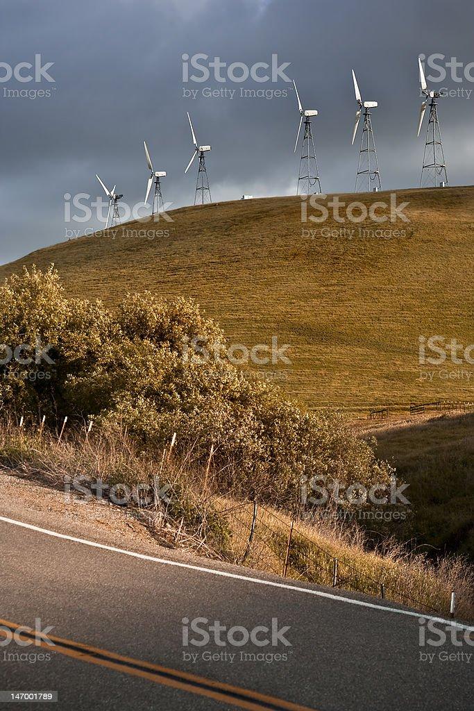 Windmills On The Hill stock photo