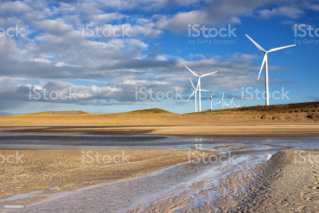 Windmills on the Maasvlakte stock photo