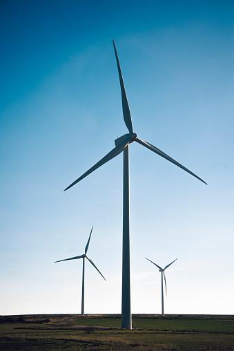 Windmills silhouette