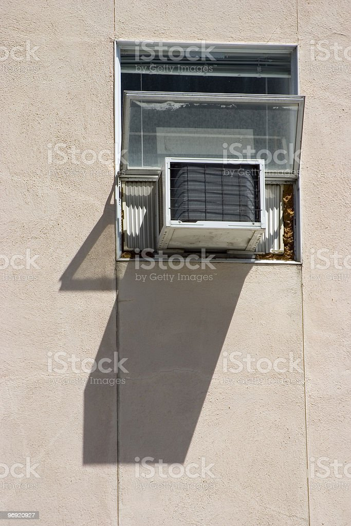 Window Air Conditioner royalty-free stock photo