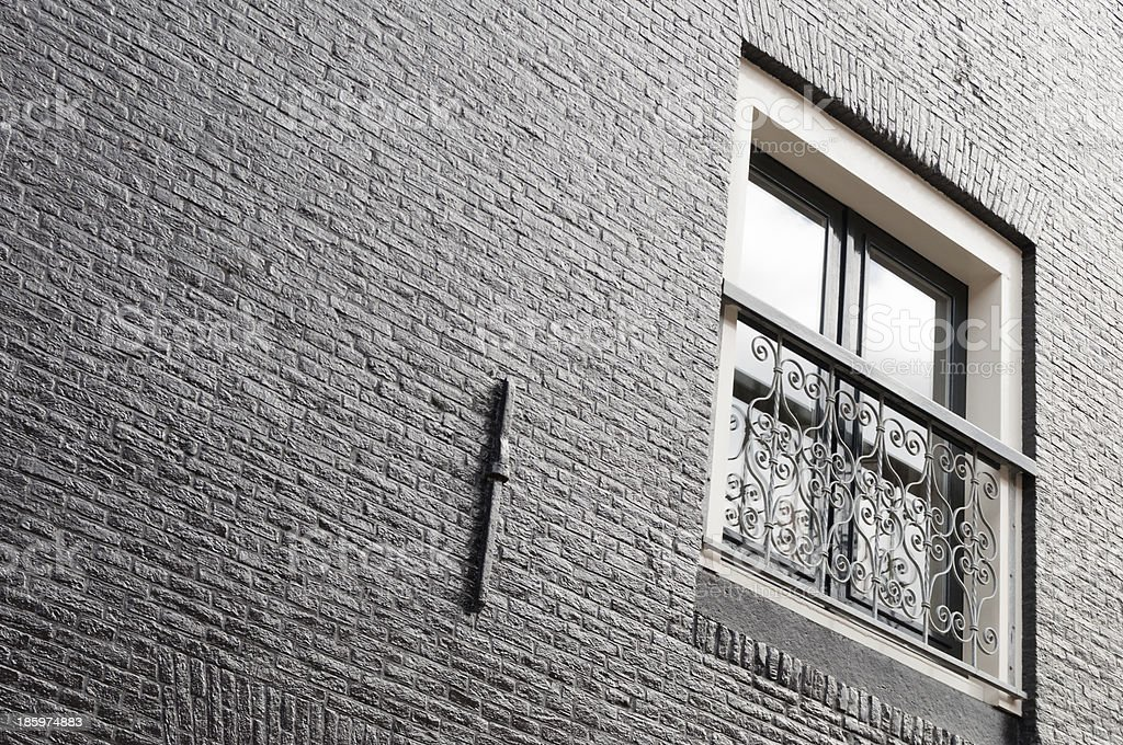 Window and brick wall royalty-free stock photo