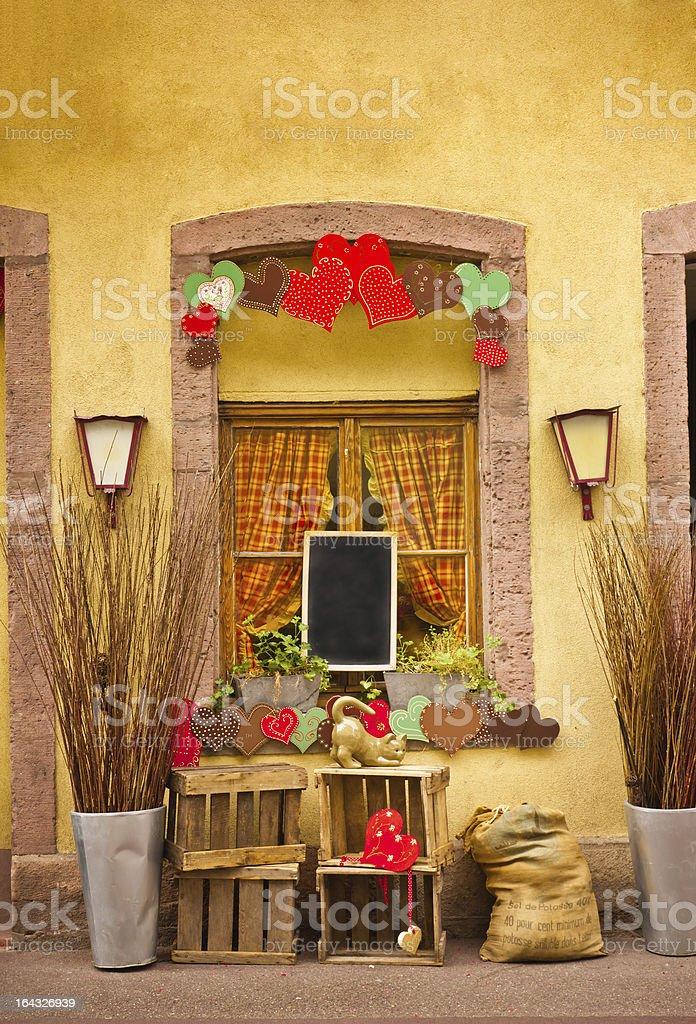 Window and hearts royalty-free stock photo