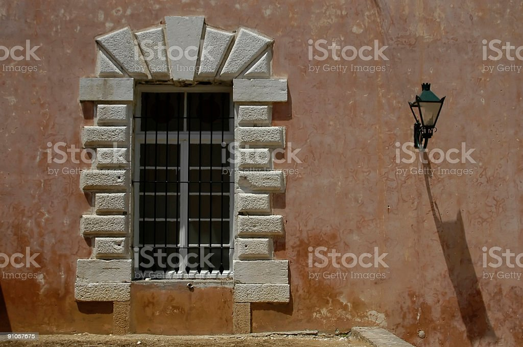 Window and lamp royalty-free stock photo