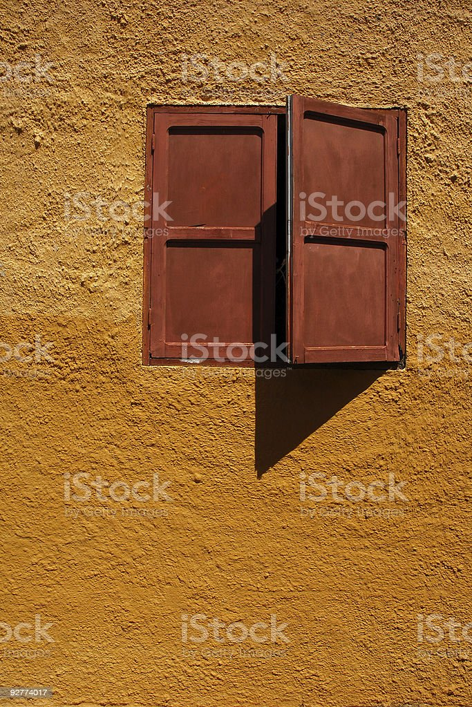 Window at a sunset royalty-free stock photo