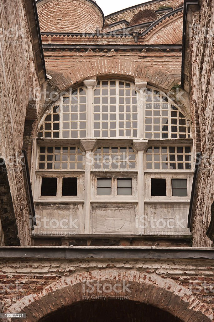 window at Hagia Sofia in Istanbul royalty-free stock photo