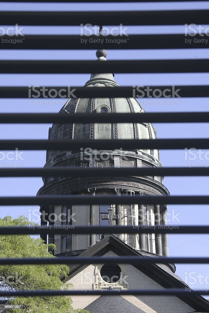 Window Blind View stock photo
