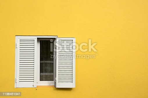 Window box, blinds, facade,