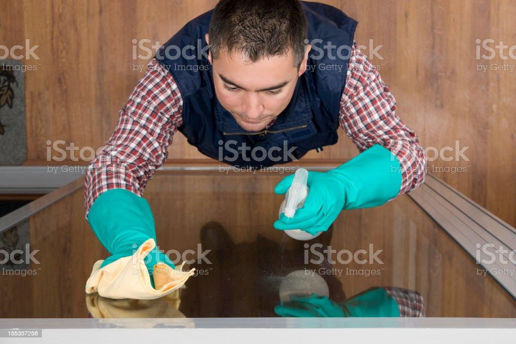 Window Cleaner stock photo