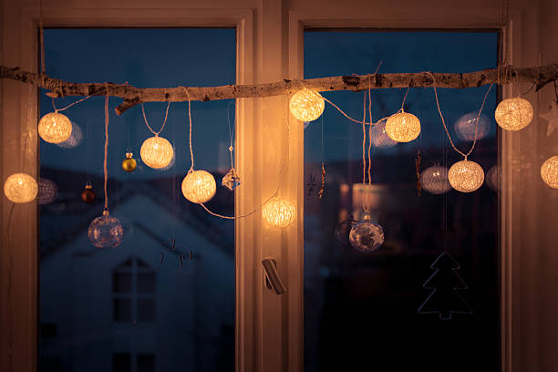 Window decoration stock photo