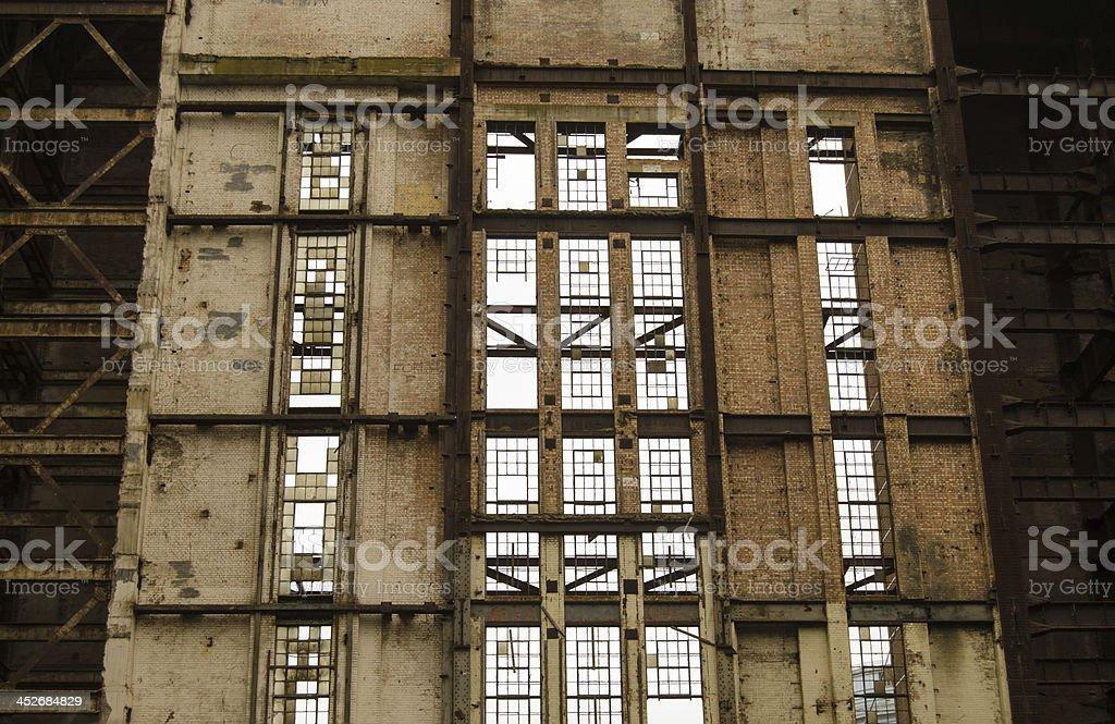 Window detail, Battersea Power Station stock photo