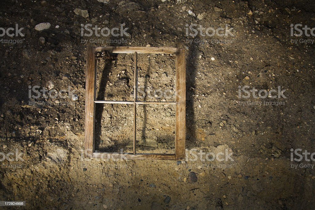 Window Frame in Cave royalty-free stock photo