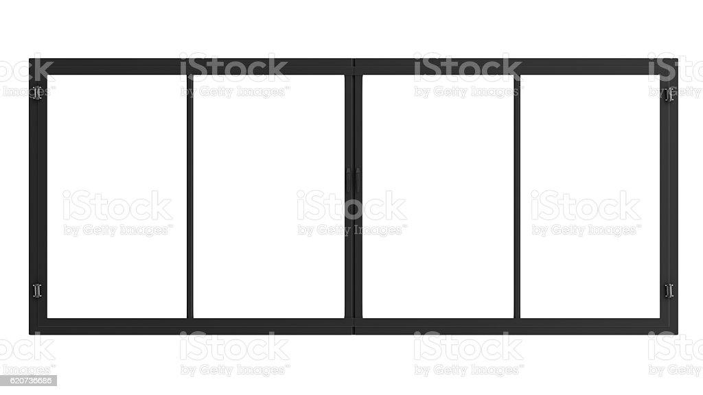 window frame isolated on white stock photo