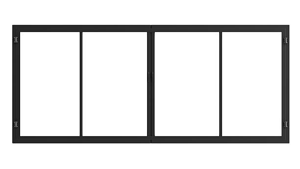 window frame isolated on white - foto stock