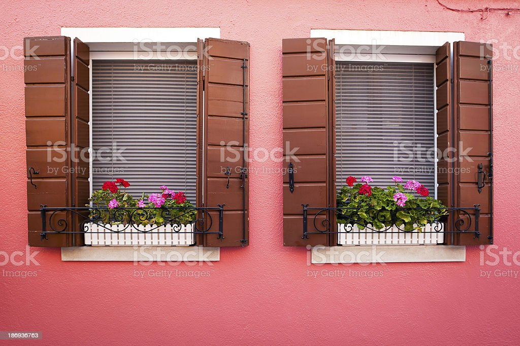 Window from Burano royalty-free stock photo