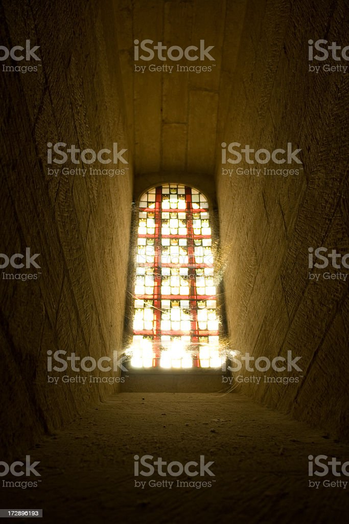 Window From Palace of the Popes - Avignon, France royalty-free stock photo