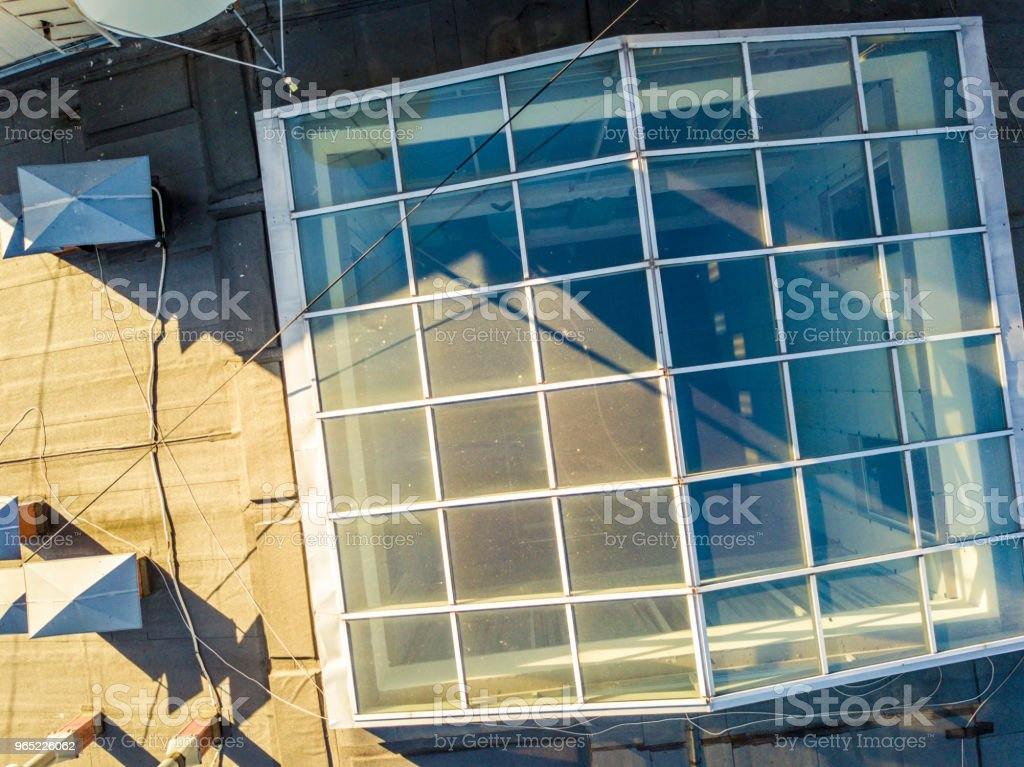window glass rooftop of the building exterior royalty-free stock photo