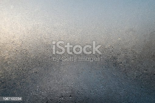530427918 istock photo Window glass with ice background. 1067102234
