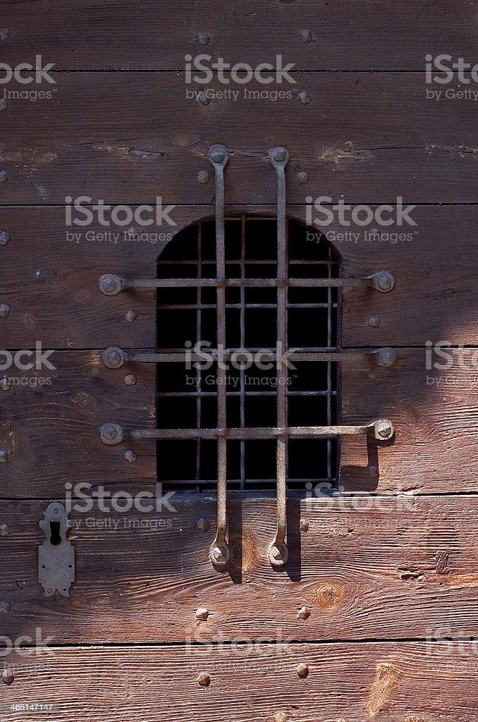window grate in bellinzona stock photo