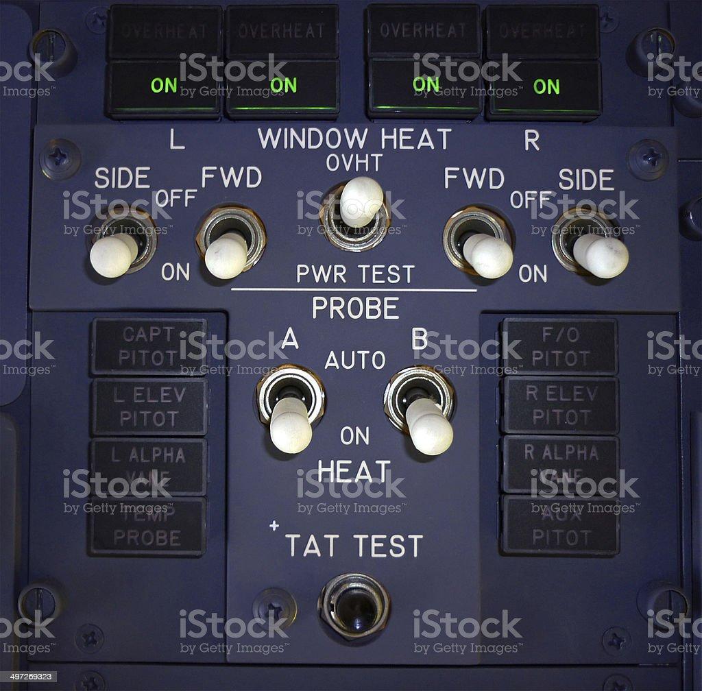 Window Heat and Probe Heat Panel royalty-free stock photo