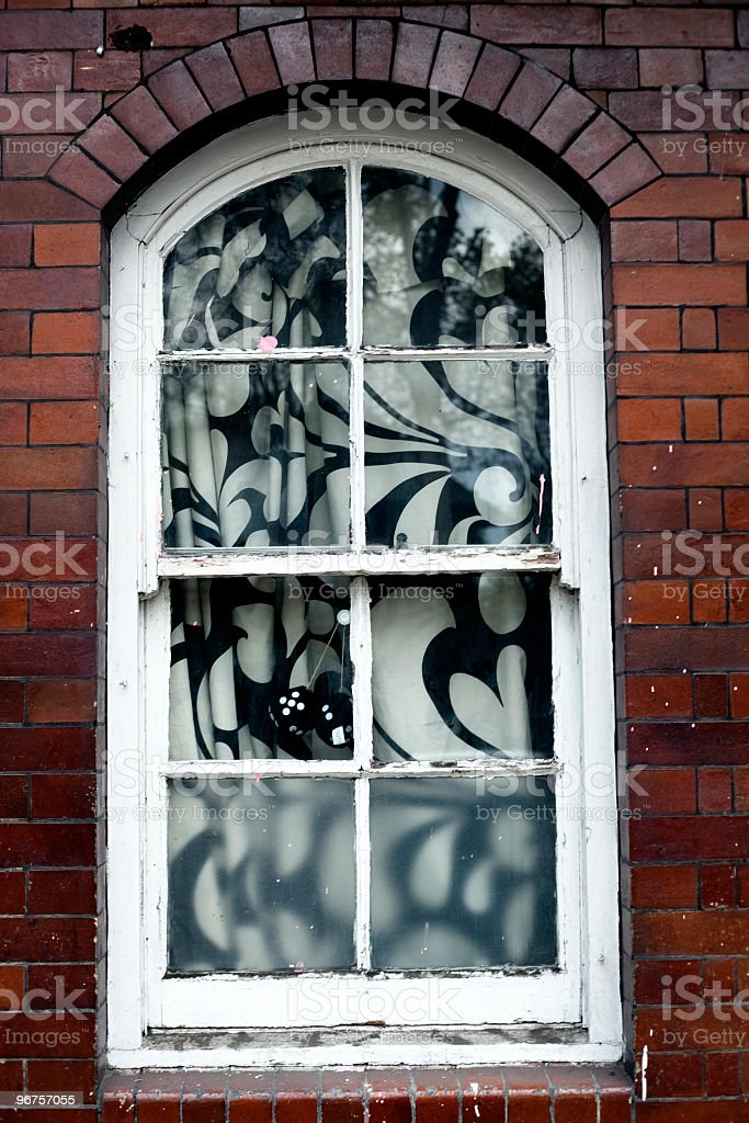 window in a period house royalty-free stock photo