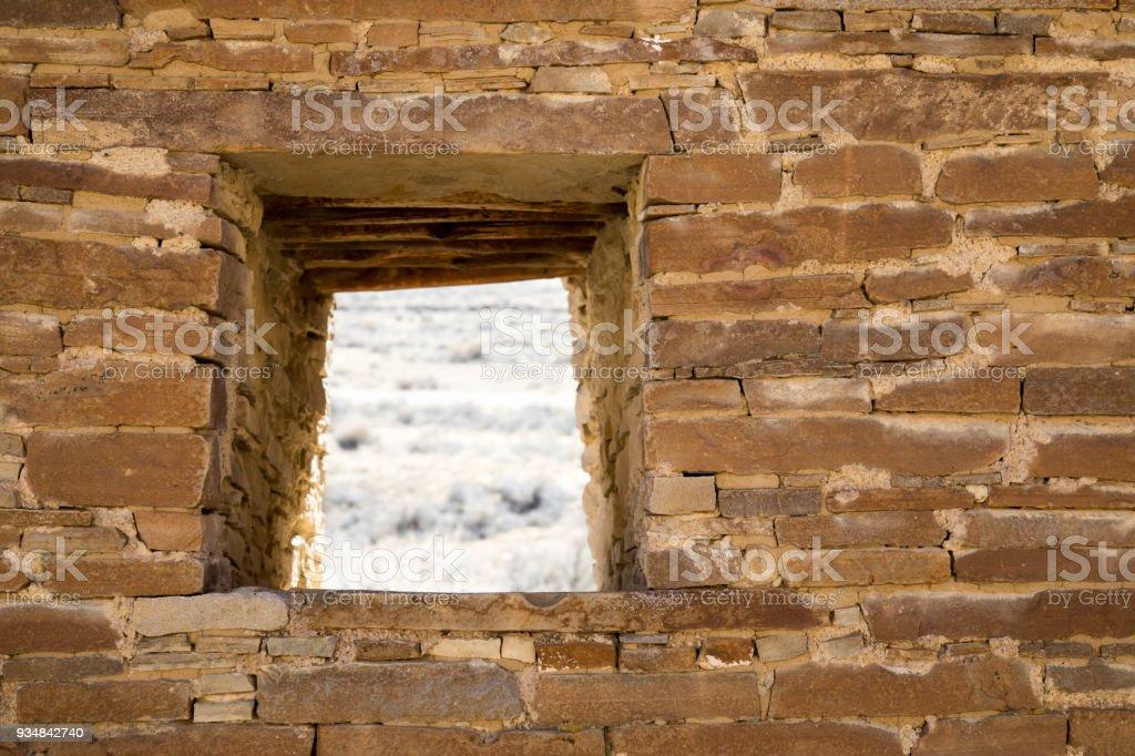 차코 협곡 국립 역사 공원 벽에 창 - 로열티 프리 0명 스톡 사진