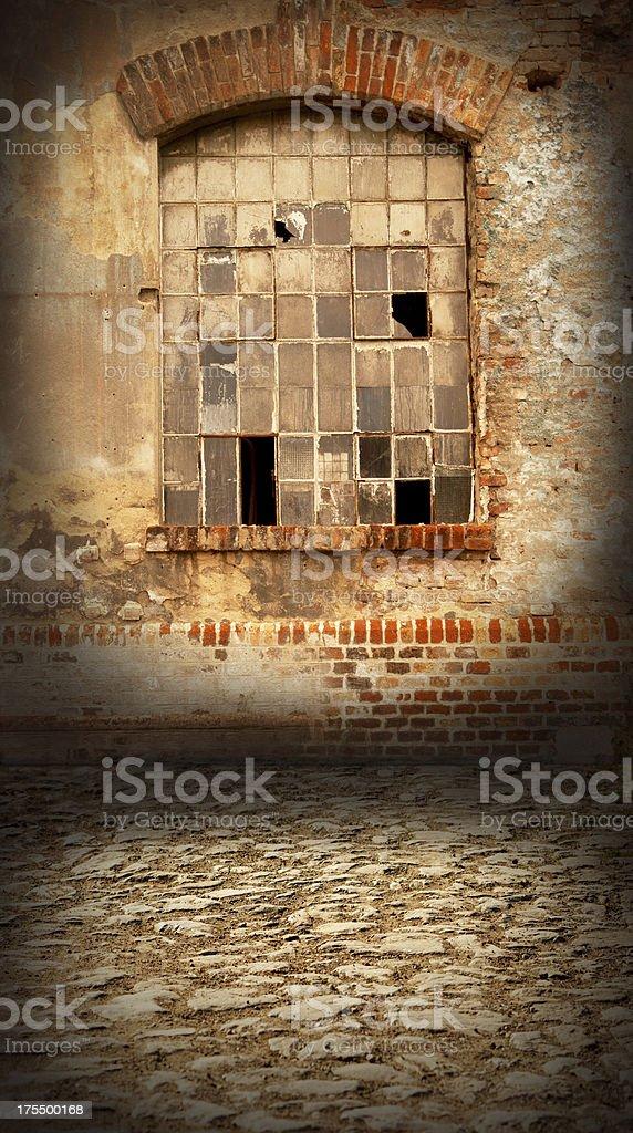 Window in brick wall royalty-free stock photo