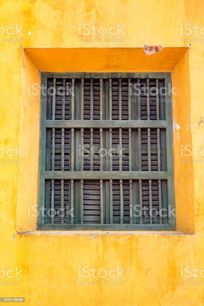 Window in Cartagena stock photo