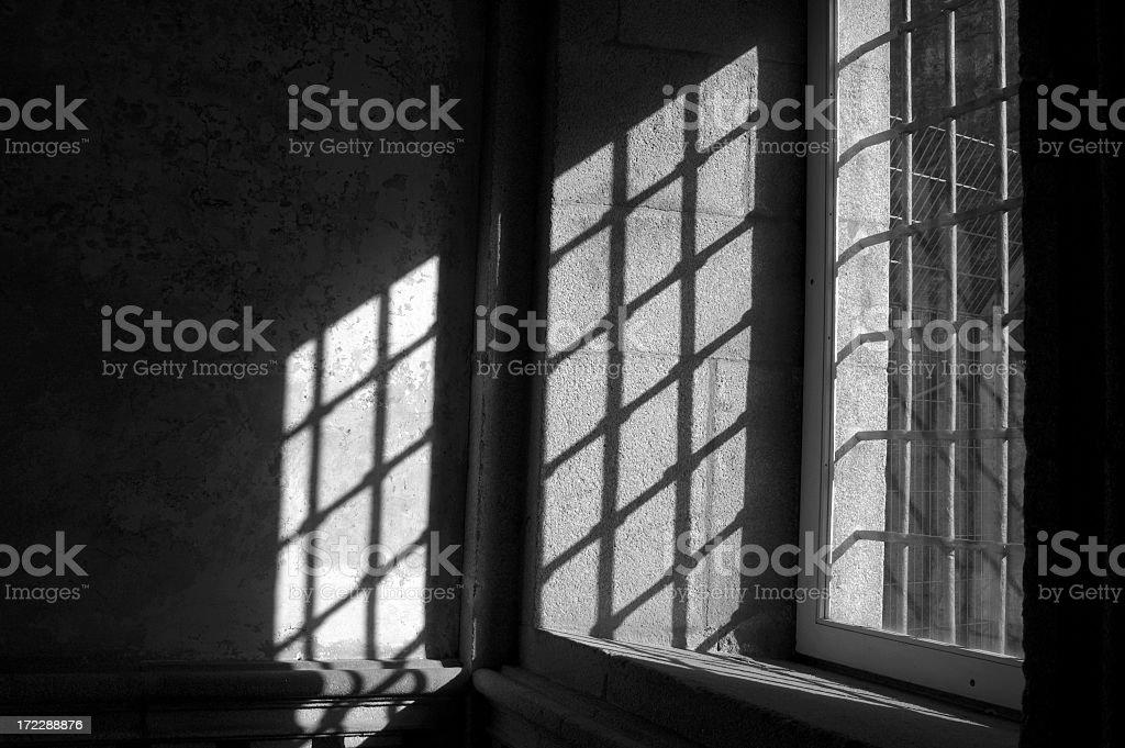 Window in castle stock photo