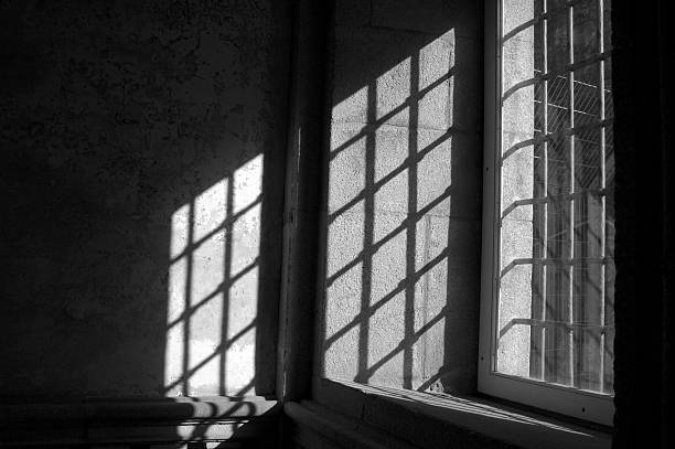 Window in castle stock photo