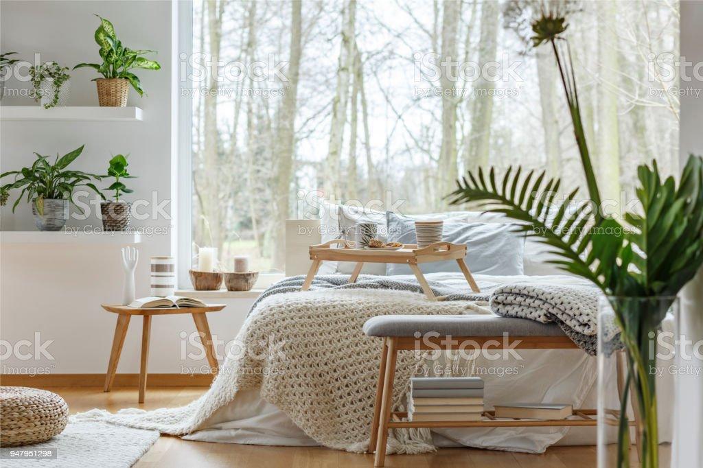 Window In Cozy Bedroom Interior Stock Photo Download Image Now Istock