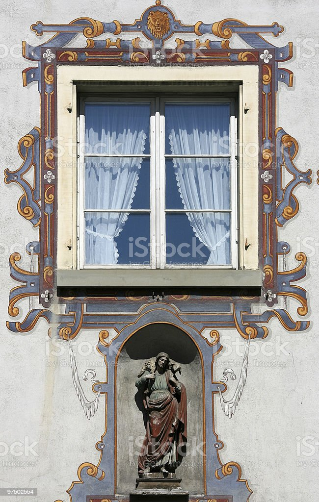 Window in Feldkirch royalty-free stock photo