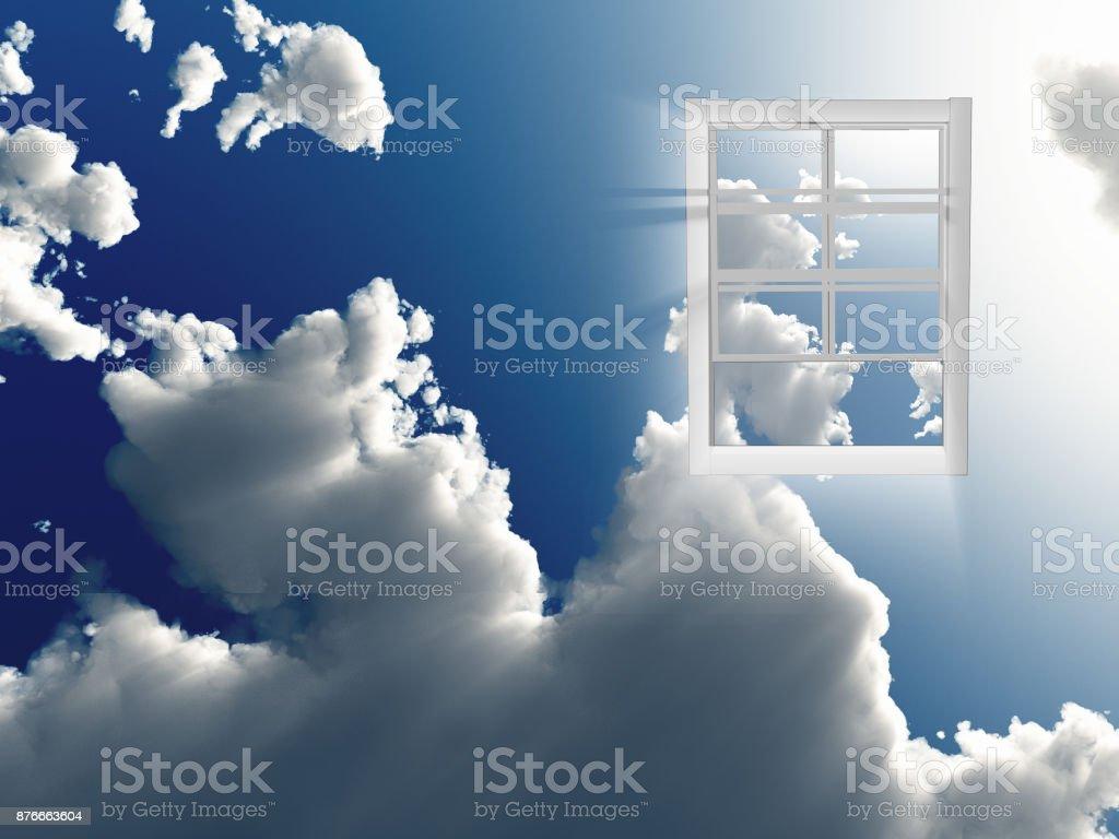 Window in sky - foto stock
