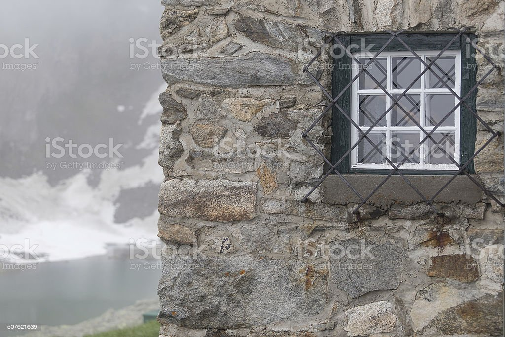 window in the stonehouse stock photo