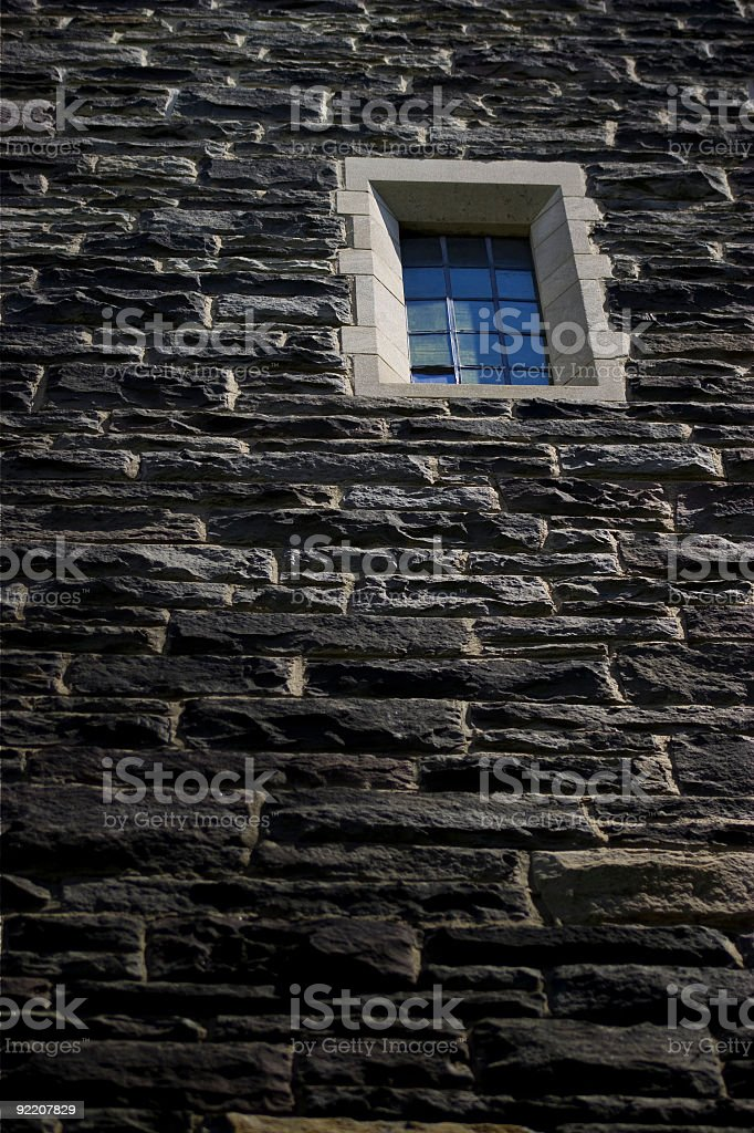 Window in tower stock photo