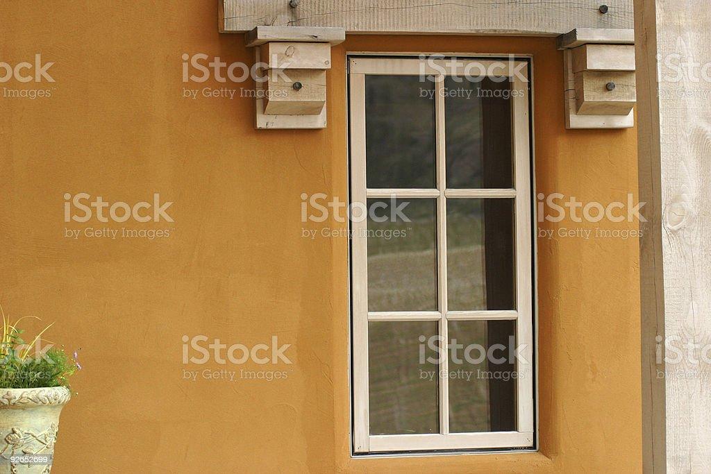Window in winery stock photo