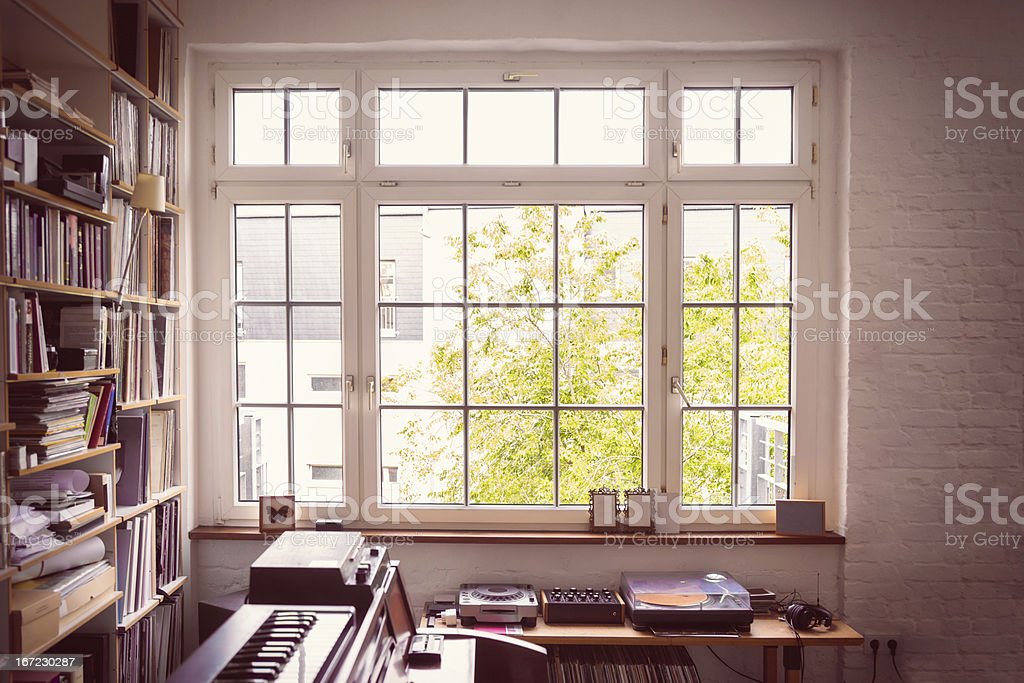 Window into the Music Room stock photo