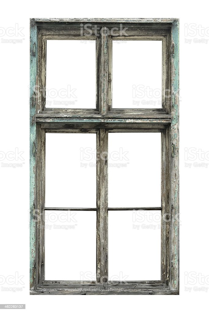 Window isolated on white stock photo