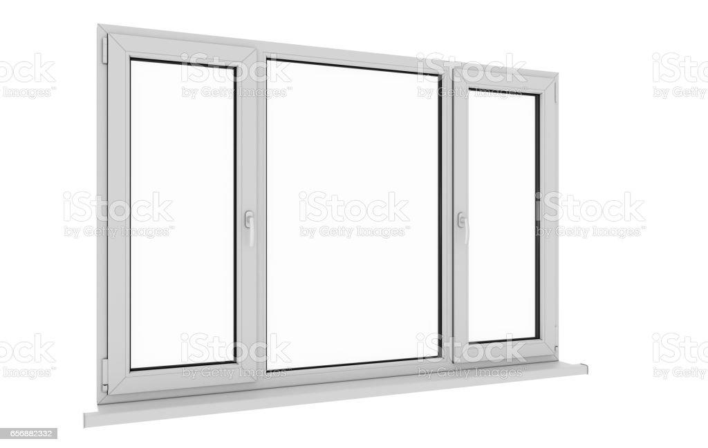 Window. Isolated window. Aluminum window. White window. Pvc window. stock photo