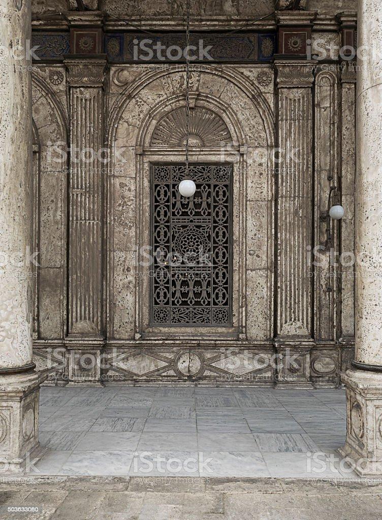 Window, Mosque of Muhammad Ali Pasha, Citadel of Cairo, Egypt stock photo