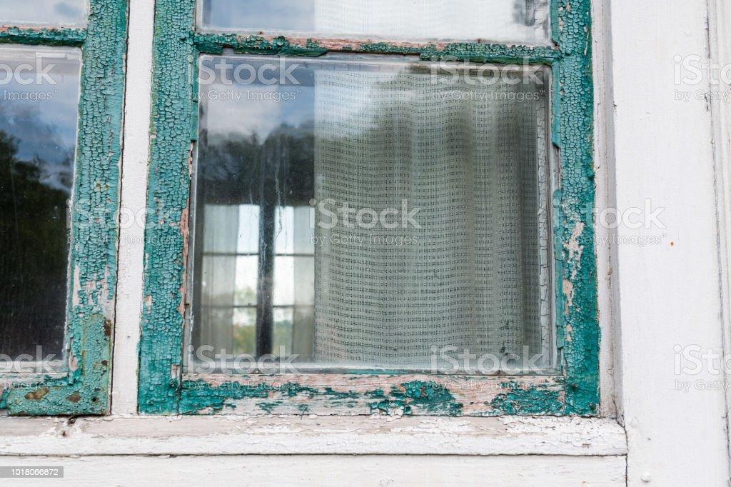 Window needs maintenance stock photo