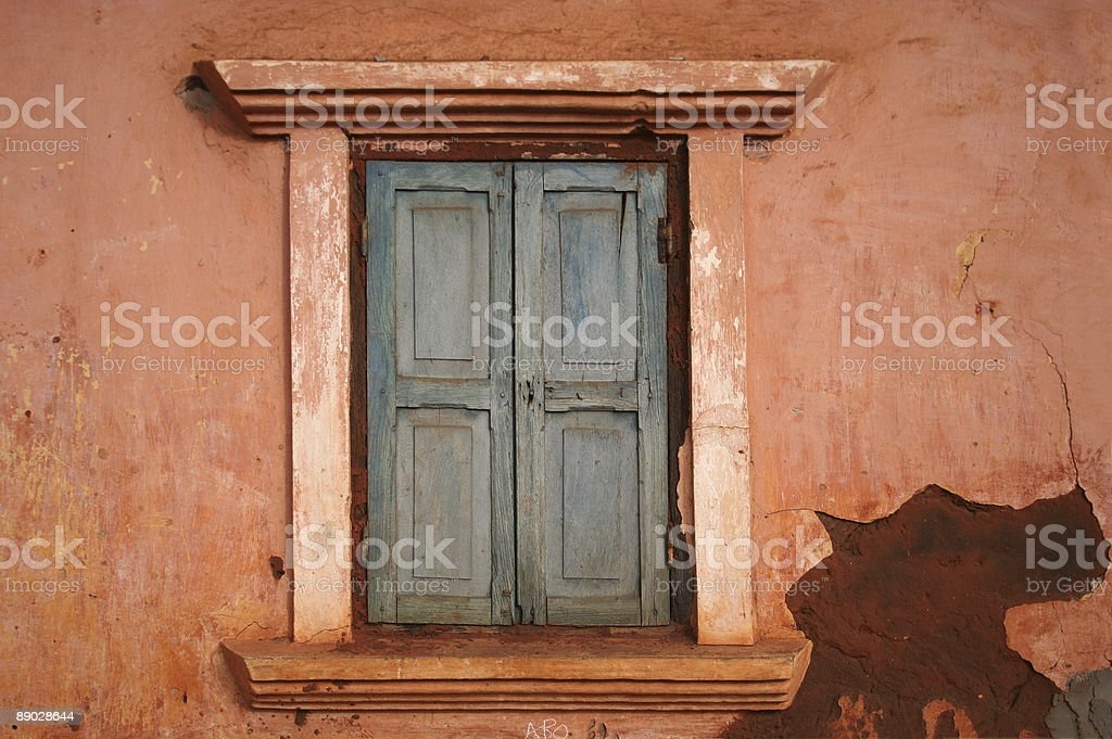 window of an african home royalty-free stock photo