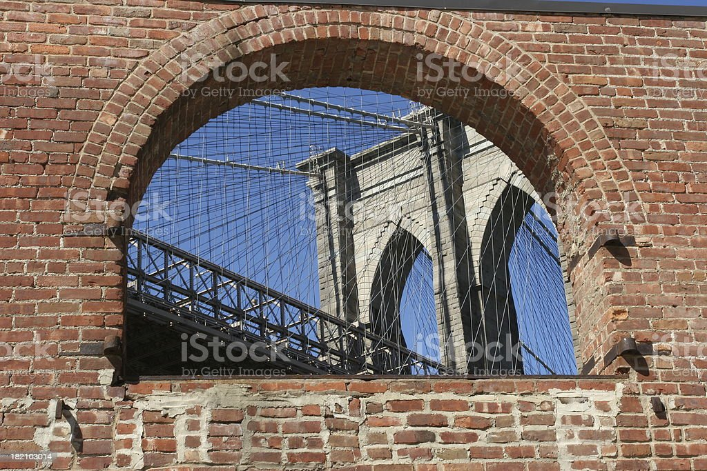 window of brooklyn royalty-free stock photo