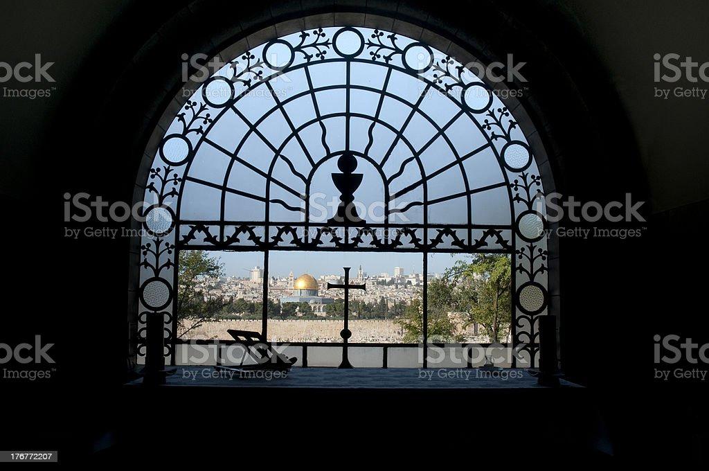 window of jerusalem royalty-free stock photo