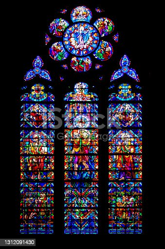 istock Window of Notre Dame Cathedral. Lorraine. Meuse. Great East 1312091430