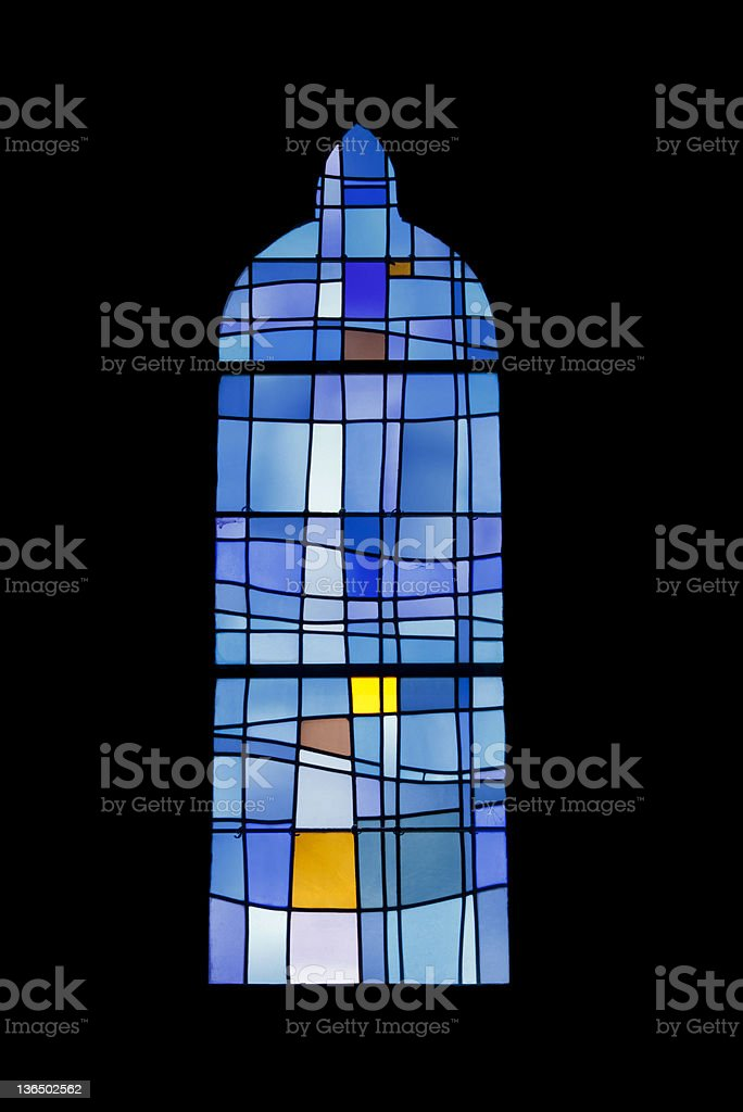 Window of Sainte Patronille church stock photo
