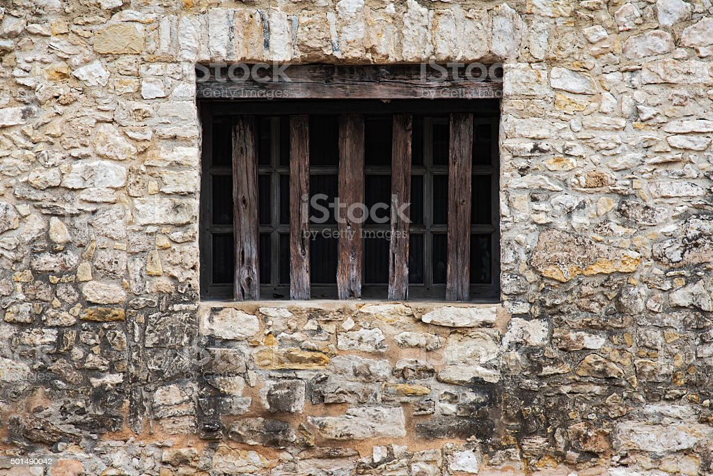 Window of the Alamo stock photo