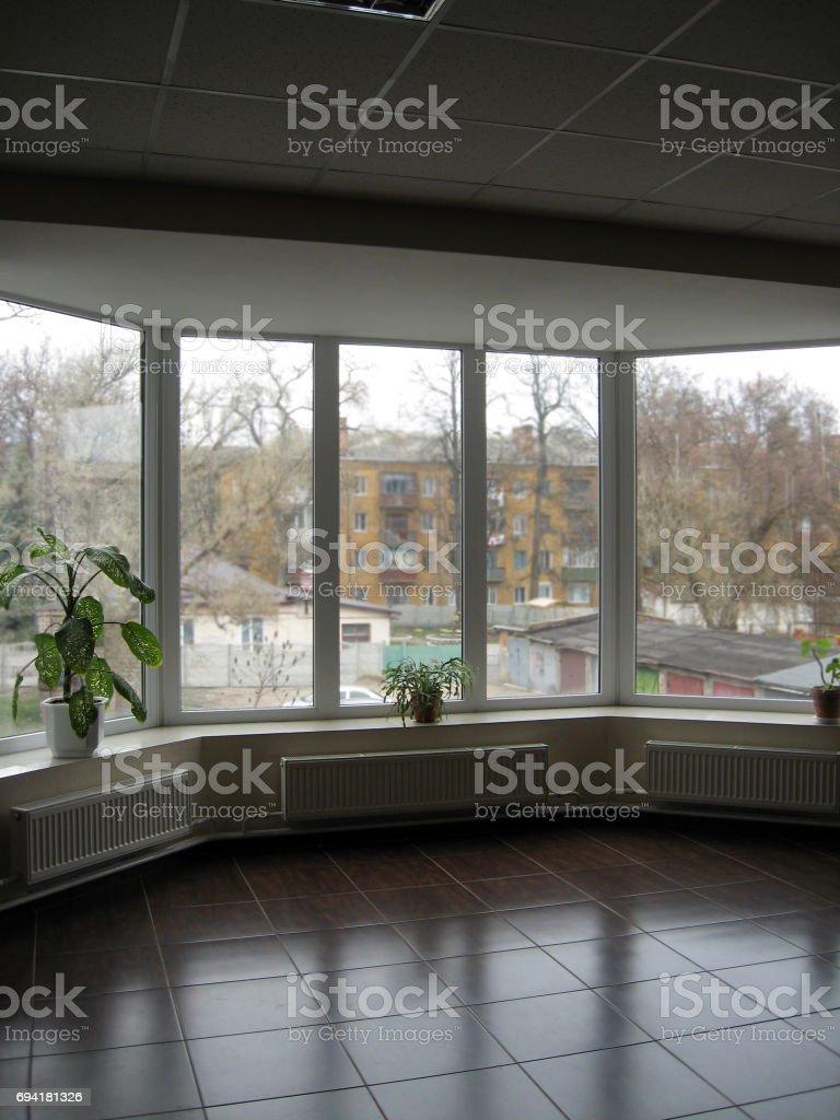 window of the office stock photo