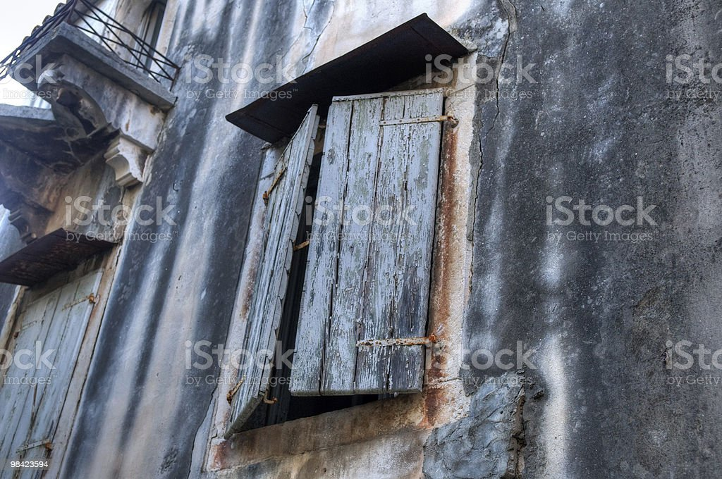Window of the old house royalty-free stock photo