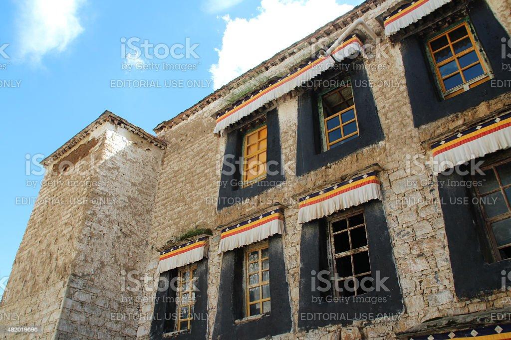 Window of the Sera Monastery stock photo