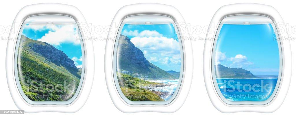 Window on Cape Peninsula stock photo